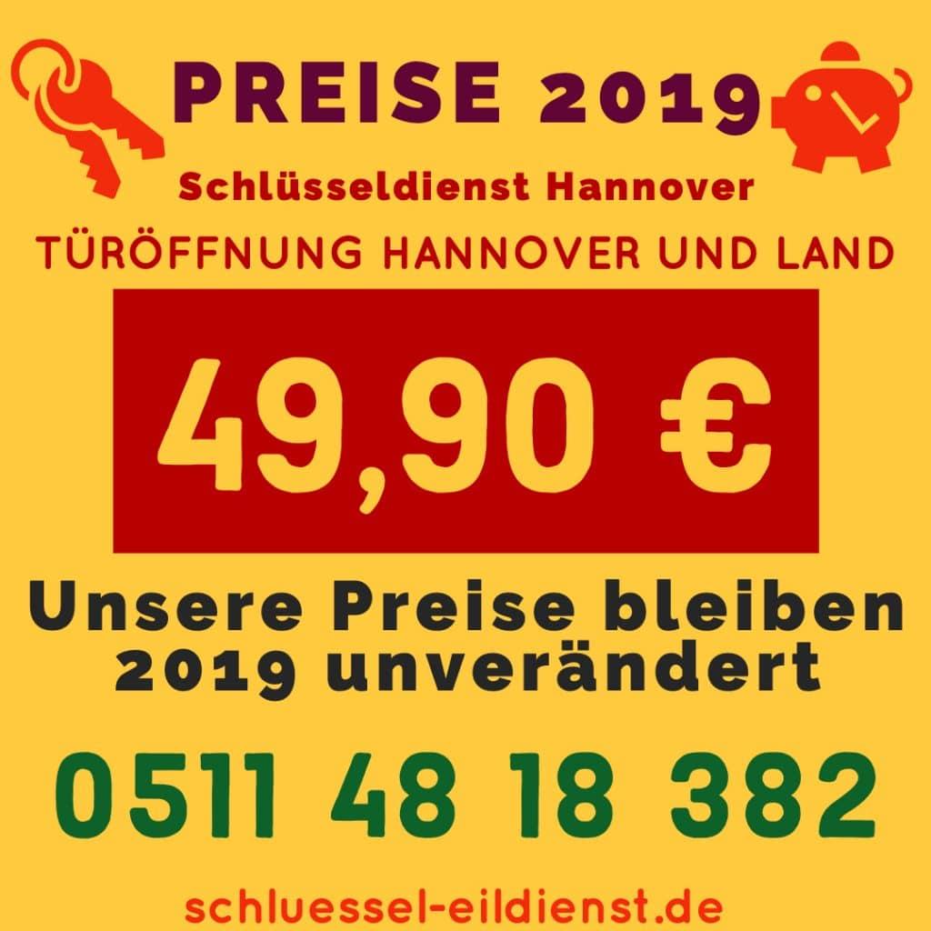 Preise Schlüsseldienst Hannover 2019