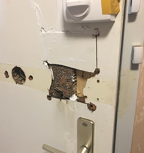 Türöffnung - Achtung - so kann Ihre Tür aussehen.